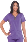 Healing Hands Purple Label Yoga - Jesse Scrub Top