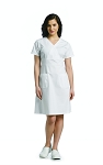 White Cross - Poplin Empire Waist Dress