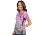 Activate by Med Couture - Virtual Wave Block Print Top