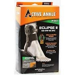 ACTIVE ANKLE ECLIPSE 2 (DOUBLE UPRIGHT) RIGID BRACE - BLACK