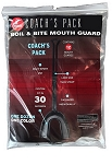 COACHES TEAM 12 PK MOUTHPIECE - BLACK