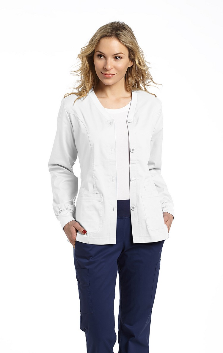 White Cross - Allure Button Front Warm - Up